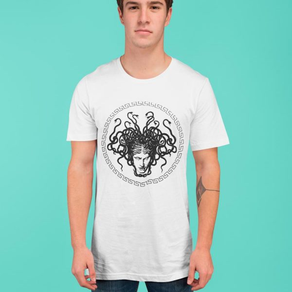Medusa Head print cotton men's T-shirt