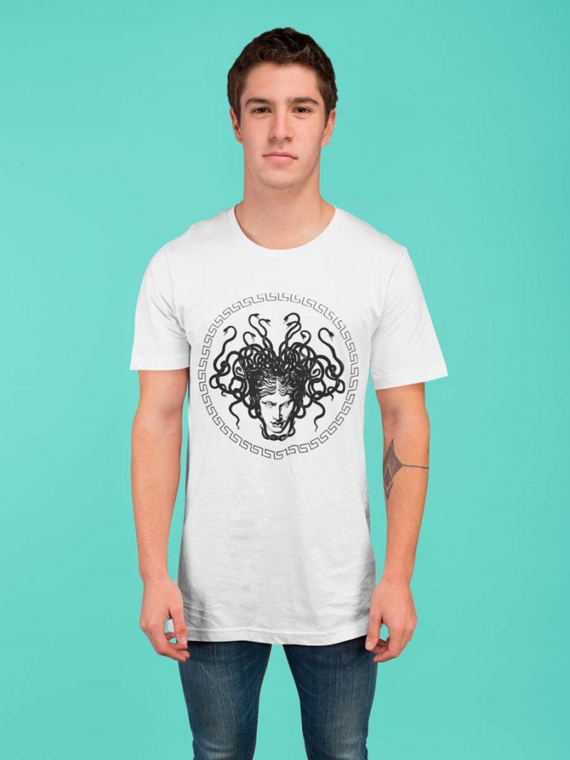 Medusa Head print cotton men's T-shirt