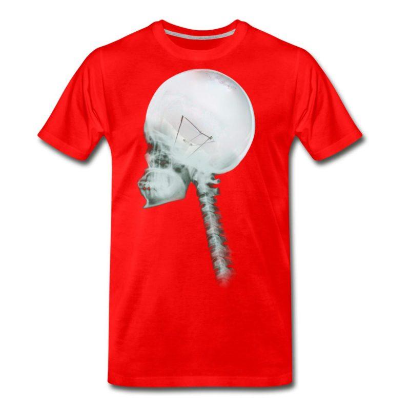 light bulb skull man cotton T-Shirt