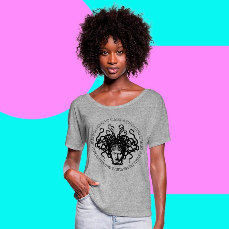Women's Medusa Head Printed T-shirt