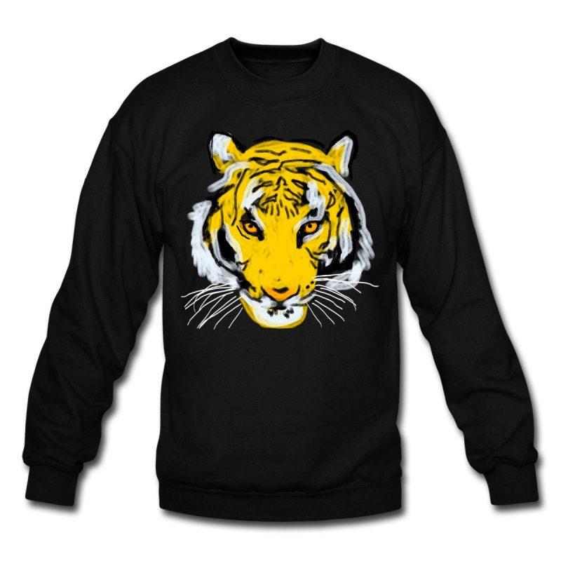 Man sweatshirt tiger head print