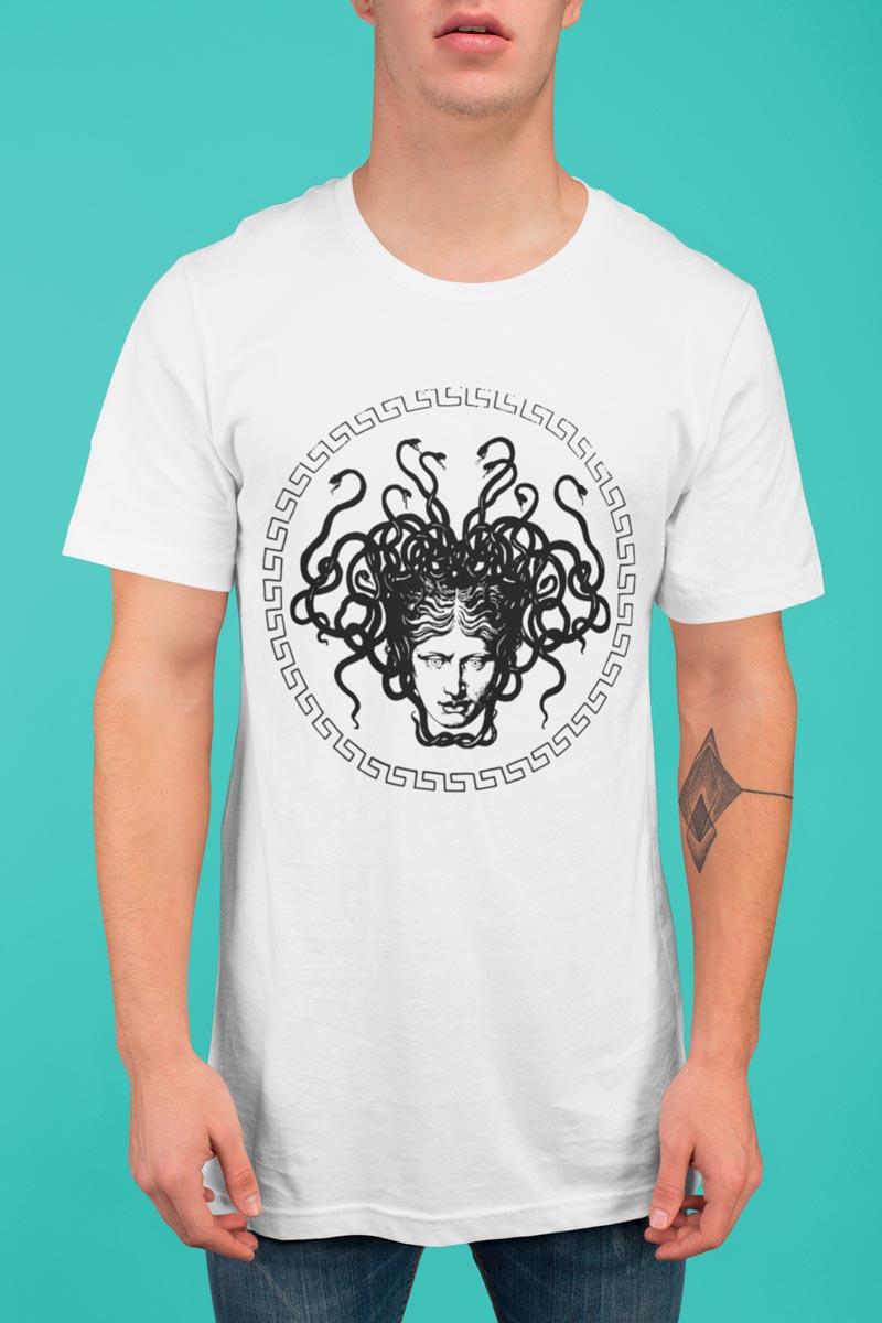 Medusa Head print cotton man's T-shirt