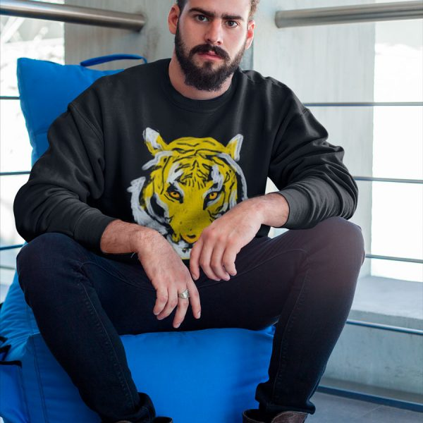 men tiger print sweatshirt