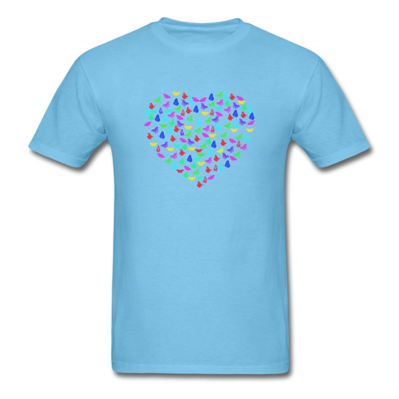 Men T-Shirt with Butterflys heart print