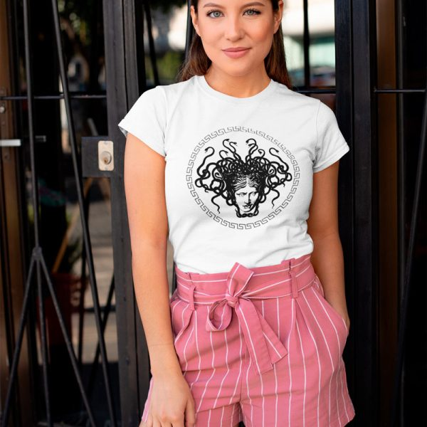 women's T-shirt with Medusa Head print