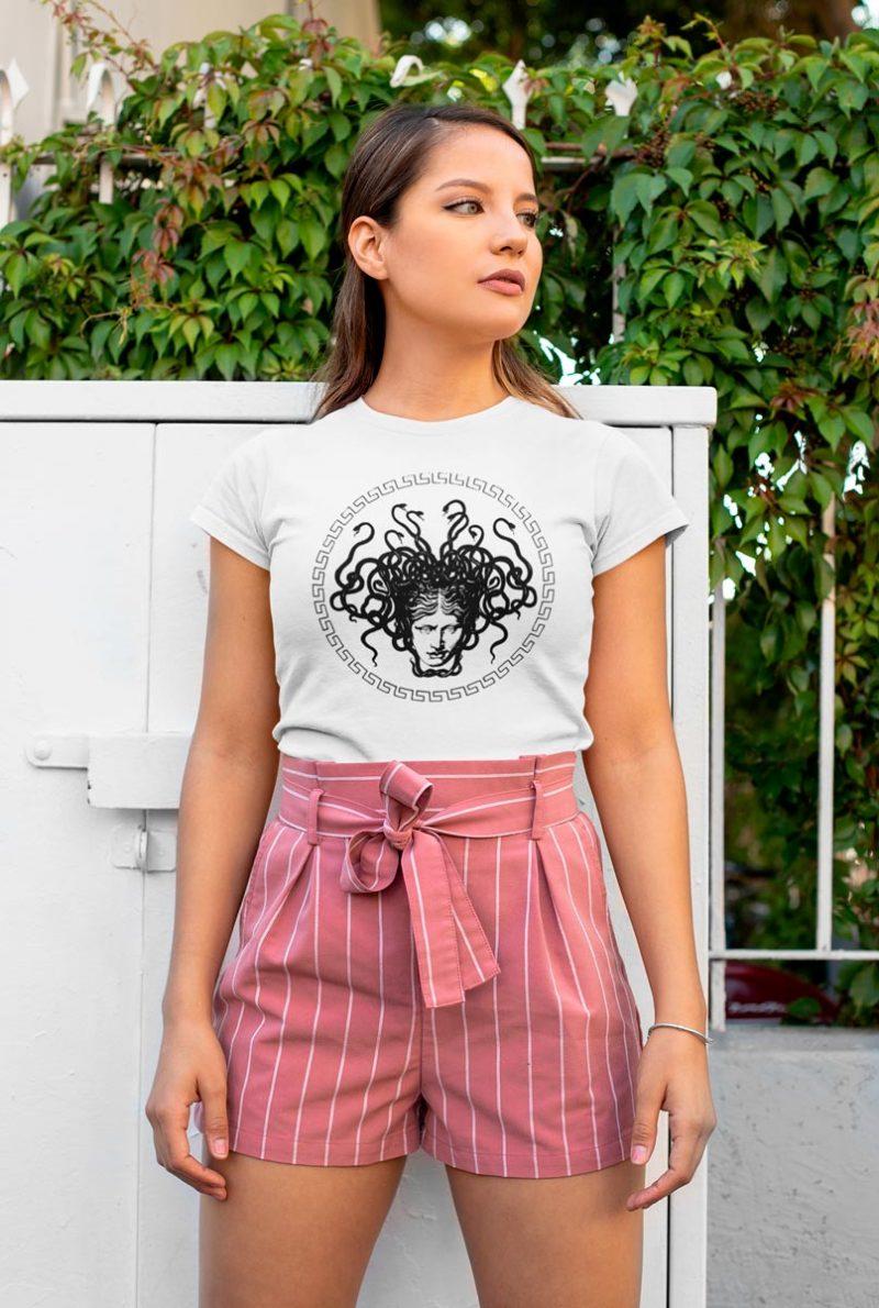 woman's T-shirt with Medusa Head print