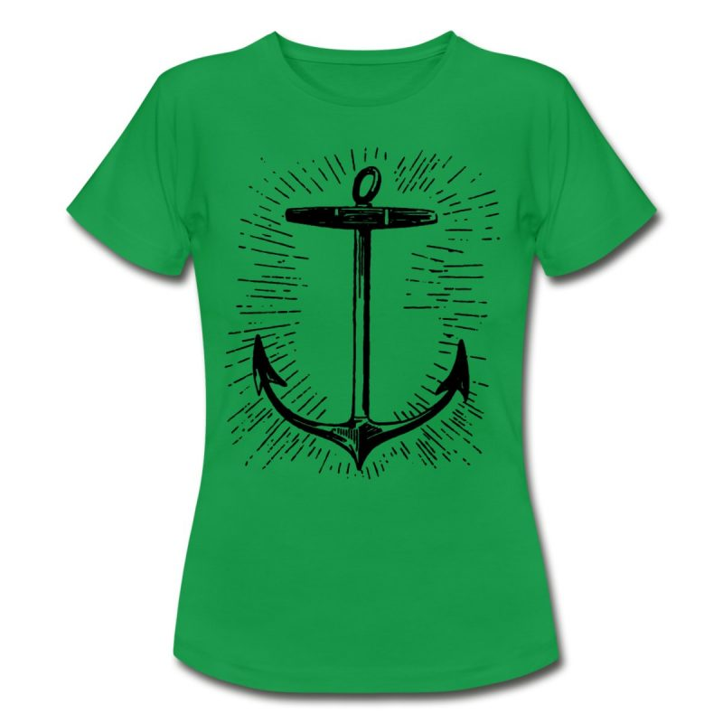 woman tshirt with Vintage anchor print