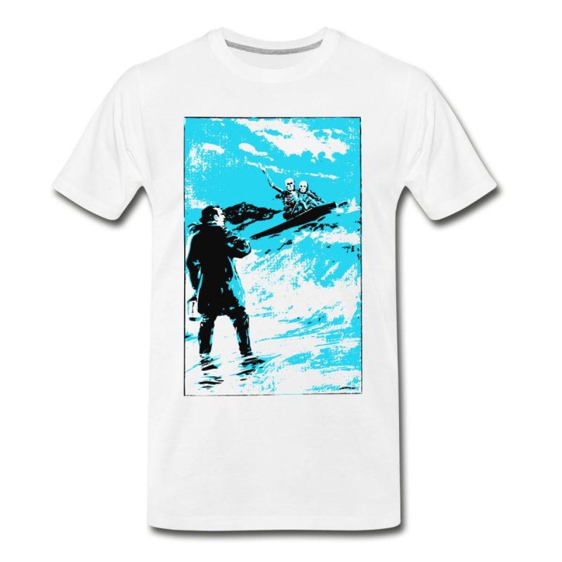 surfer skeletons organic men's T-shirt