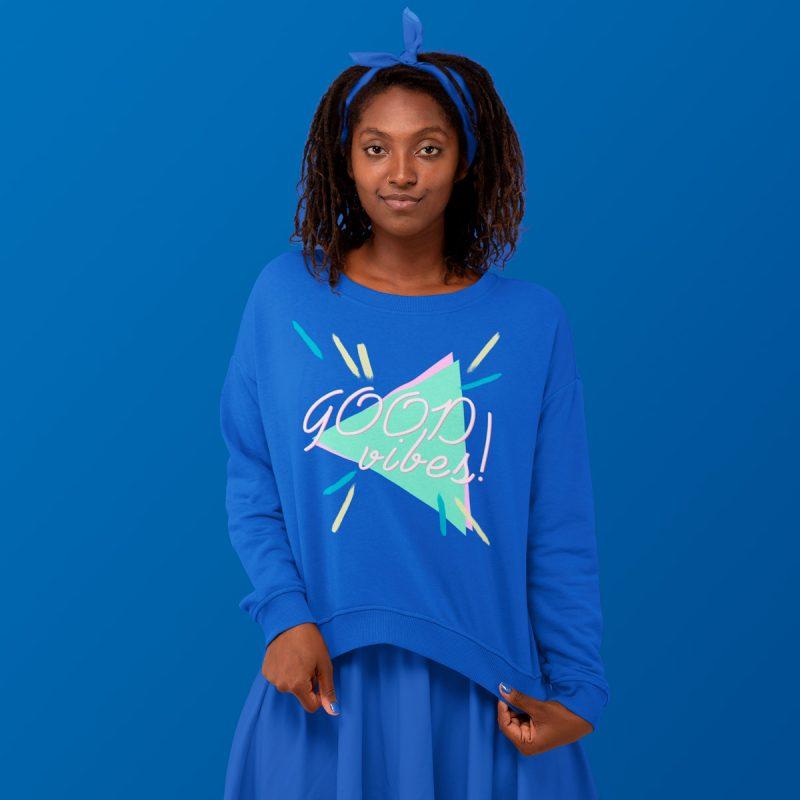 Cool women's sweatshirt mono y mona