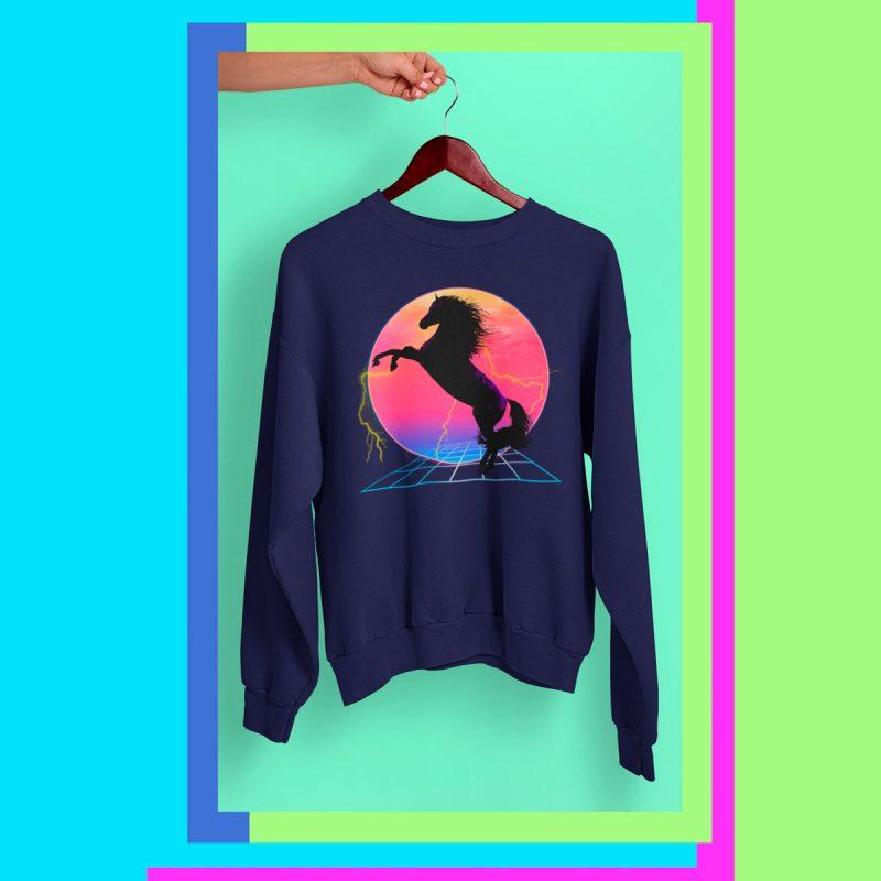 retro Men's Sweatshirt mono y mona