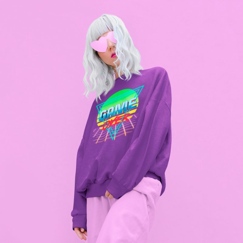 retro women's sweatshirts mono y mona