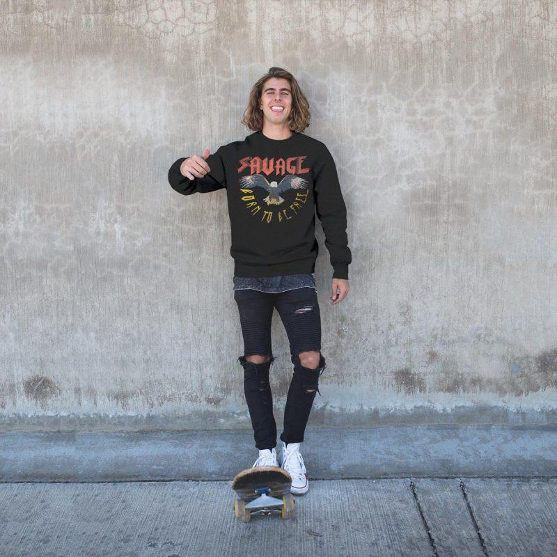 Original graphic men's sweatshirts mono y mona