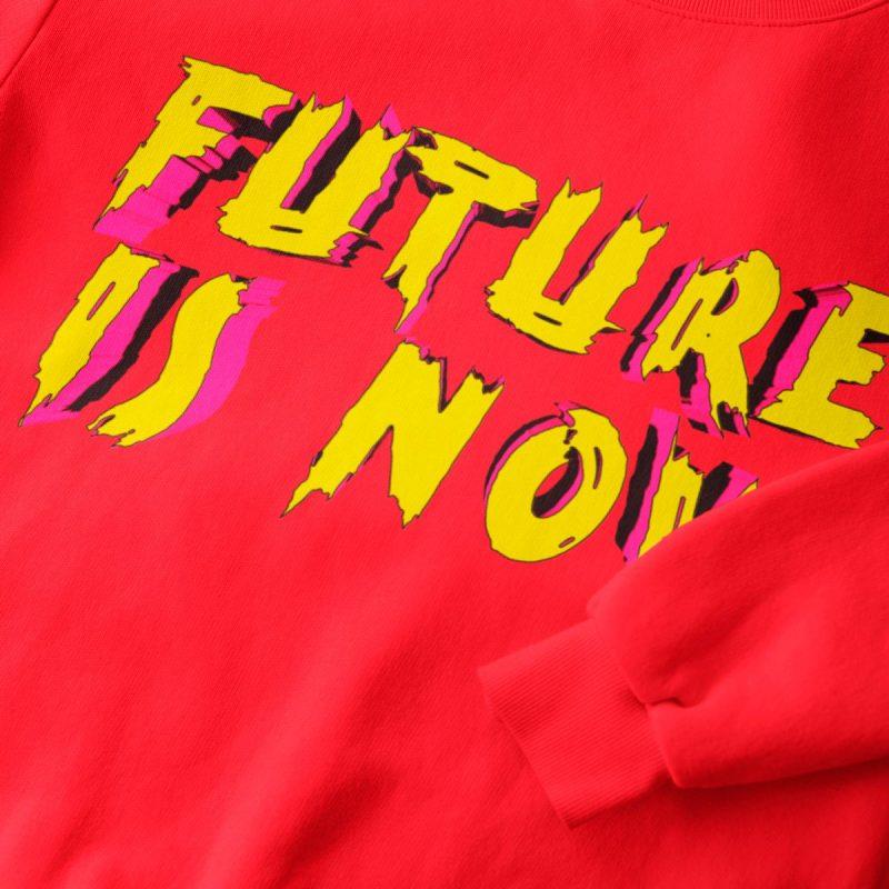Future is now men's graphic red sweatshirt