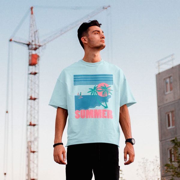 Vintage summer men's tees mono y mona