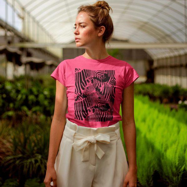 Zebra print women T-shirt